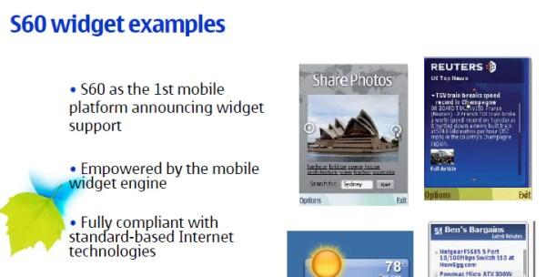 symbian-widgets
