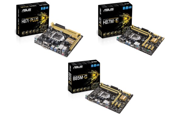ASUS H87I-Plus, H87M-E and B85M-G Motherboards