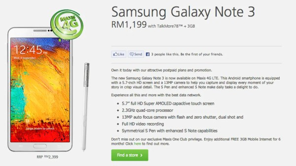 Maxis Note 3