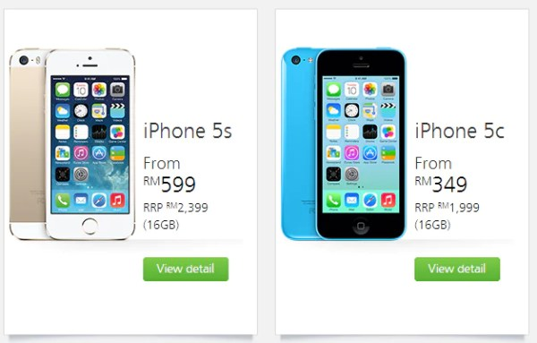 Maxis iPhone 5S and iPhone 5C