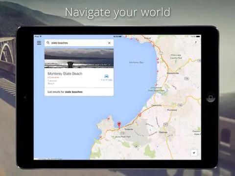 Google Maps on iPad