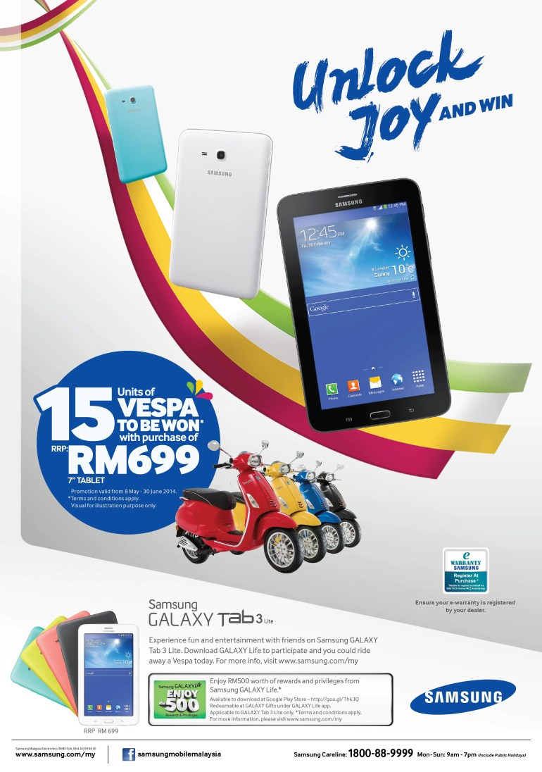 Buy A Samsung Galaxy Tab 3 Lite And Stand A Chance To Win 1