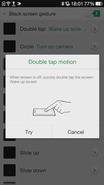 Oppo Find 7 Double Tap to Wake Screen Tutorial
