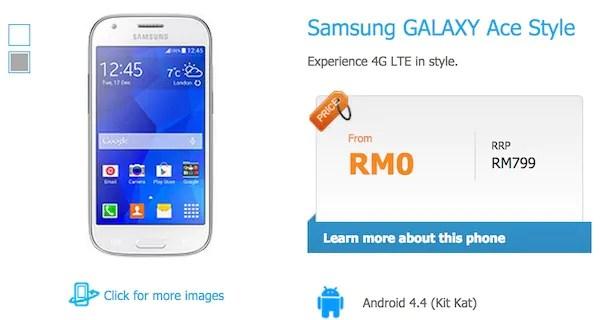 Celcom Samsung Galaxy Ace Style