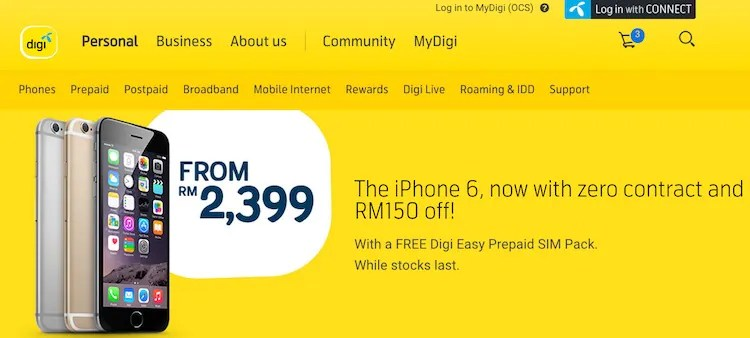 Digi Offering iPhone 6 with its Prepaid Bundle, Lets You