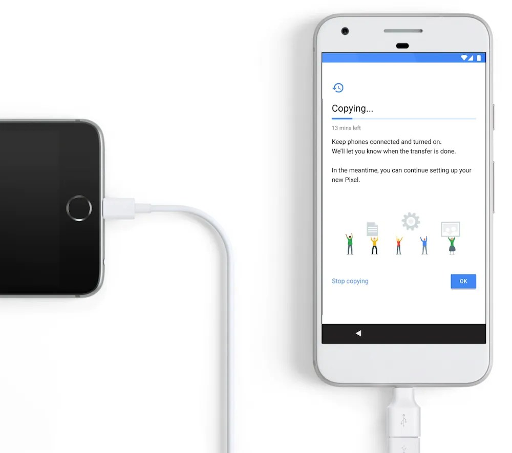 Google Quick Switch Adapter switch from ios to pixel