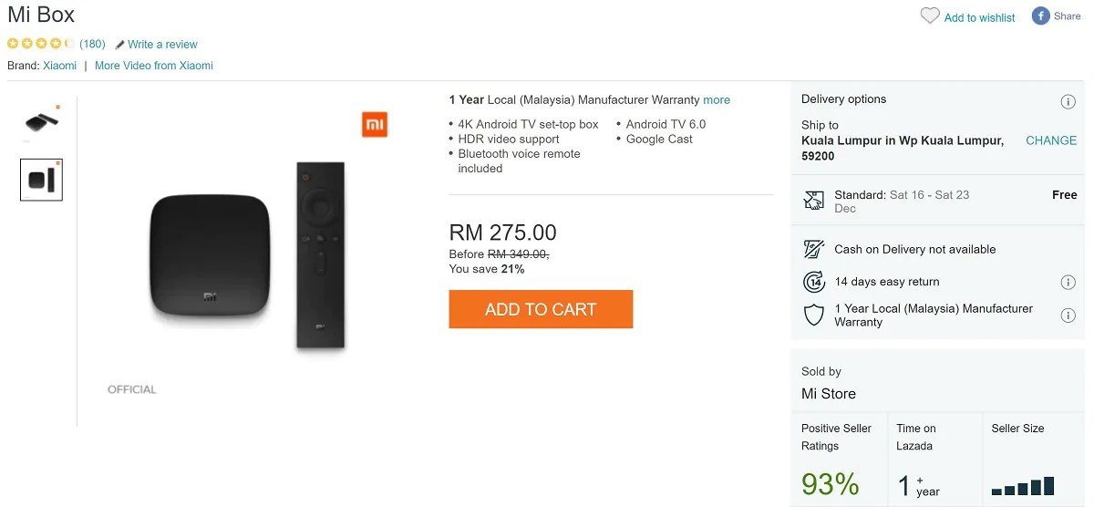 12/12 Deals: Xiaomi Mi Box & Google Chromecast Retailing