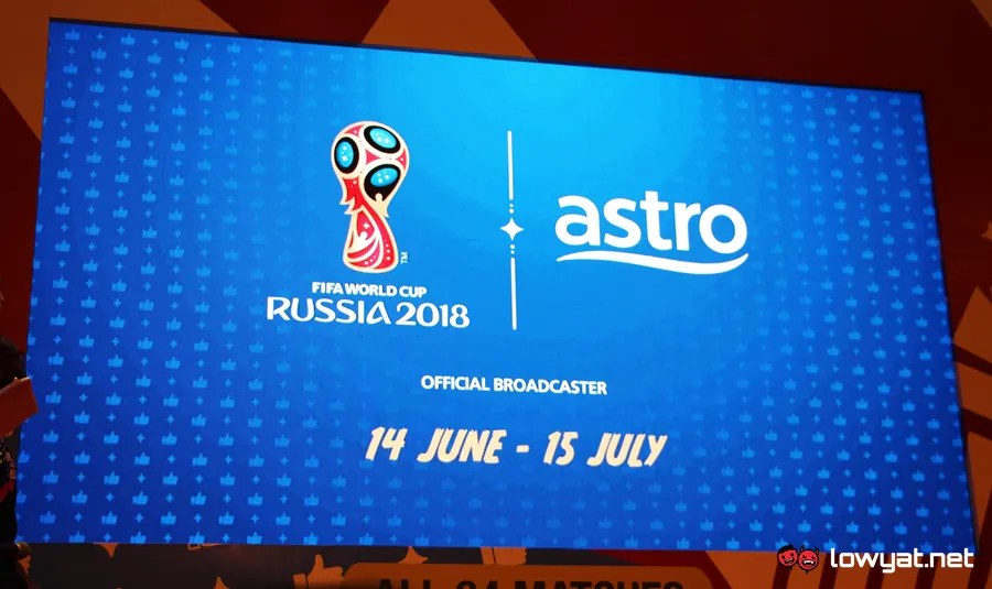 For a one-time payment of RM 120*, the World Cup Channel Pass allows users  to watch all 64 live matches from FIFA World Cup 2018 on Astro GO platform.
