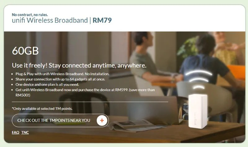UniFi Wireless Broadband