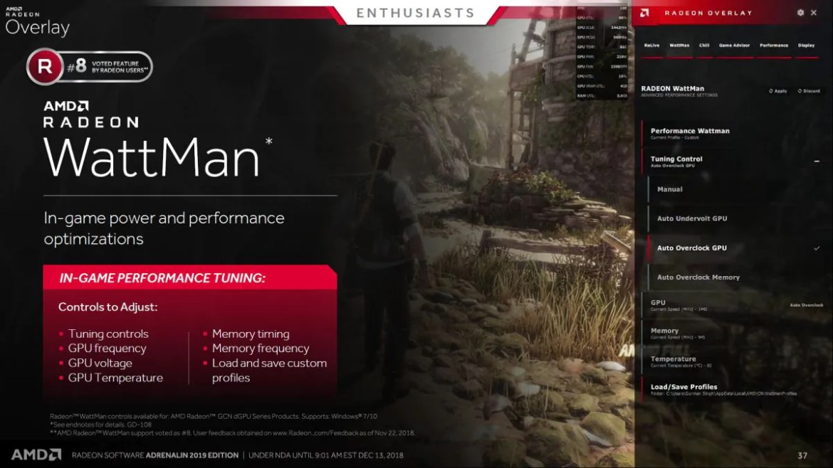 AMD Radeon Software Adrenalin 2019 Edition: Of Improved