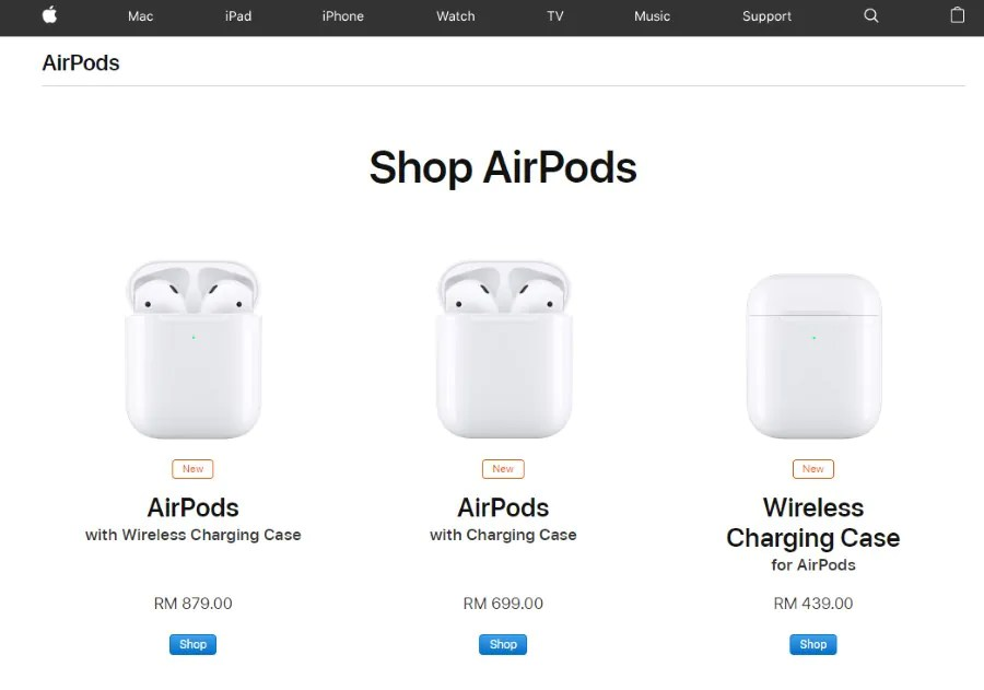 Second Generation Apple AirPods Now Officially Available In