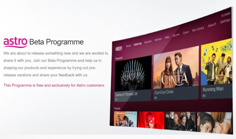 Astro Launches Beta Programme For Its New User Interface