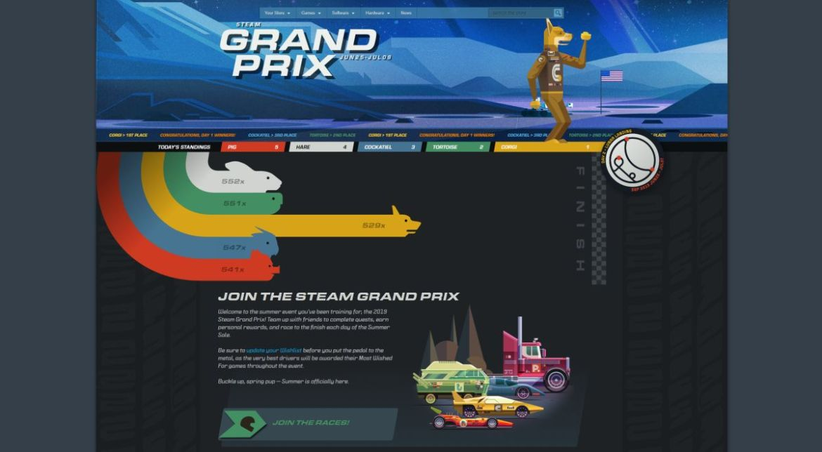 Steam Summer Sale Kicks Off With Grand Prix Theme And