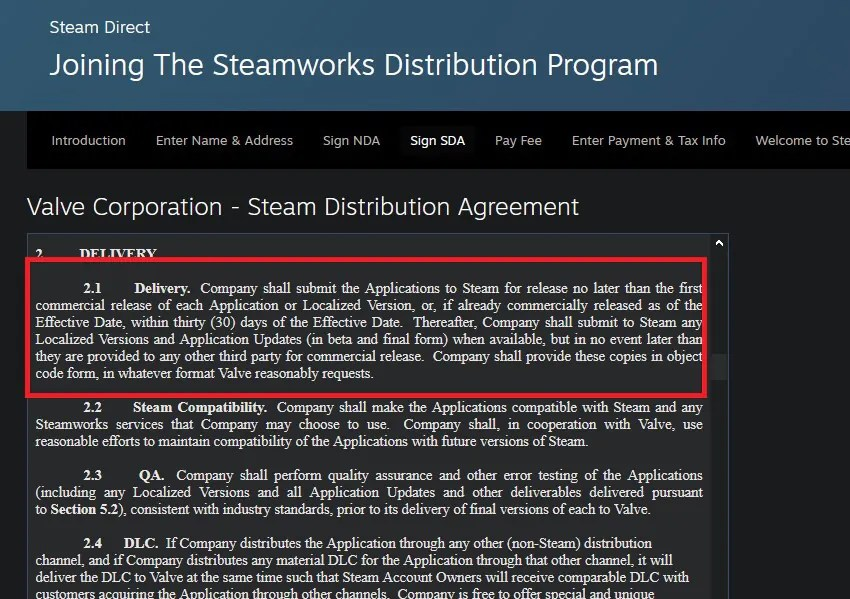 Valve Adds New Stipulation To Steam Distribution Agreement