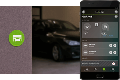 Telefon a NFC štítek u garáže