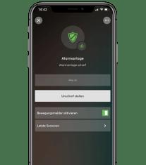 Aplikace v telefonu alarm aktivní