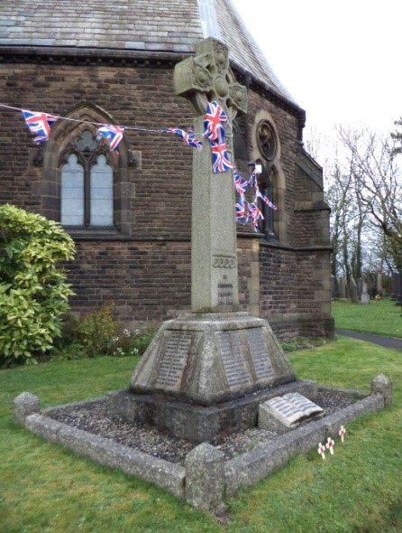 All Saints Church War Memorial in Higher Walton