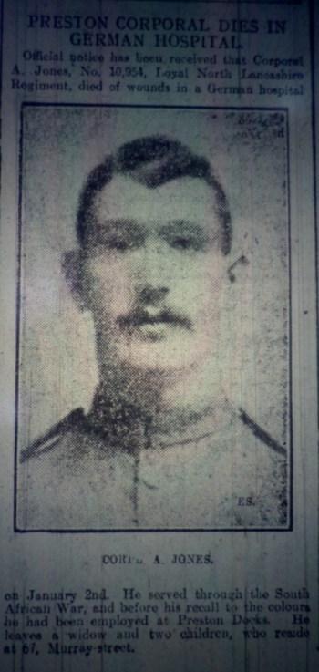 10954 Corporal Arthur Jones 1st Battalion