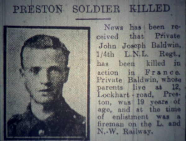 Private John Joseph Baldwin