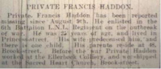 11675 PTE FRANCIS HADDON 3