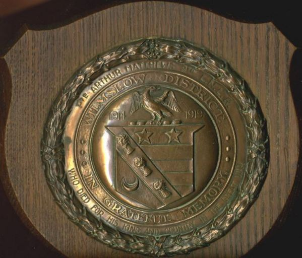 arthur matthews plaque