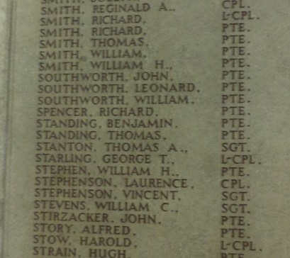 Harris RoH Southworth 1st Battalion