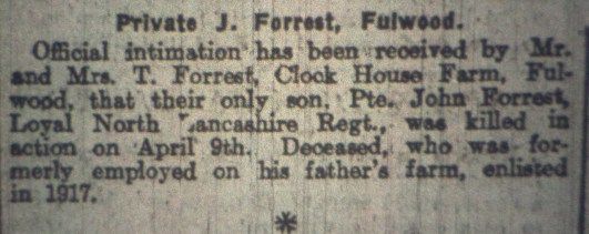 37598 Private John Forrest 1-4th Battalion 2