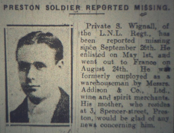 24128 Private Samuel Wignall