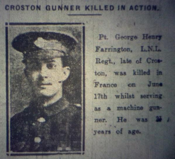 243311 Private George Henry Farrington C Coy 4-5th Battalion