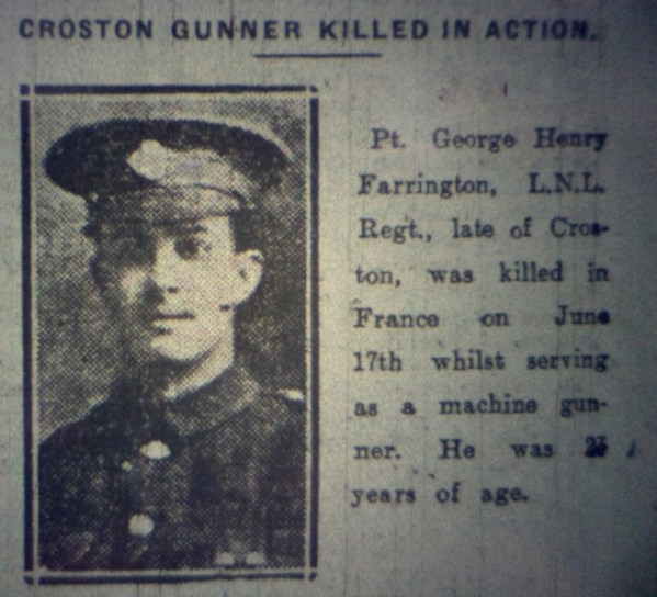 243311 Private George Henry Farrington C Coy 4-5th Battalion