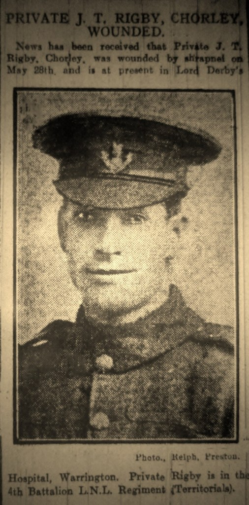 2854 Lance Corporal John Thomas Rigby 4th Battalion 1