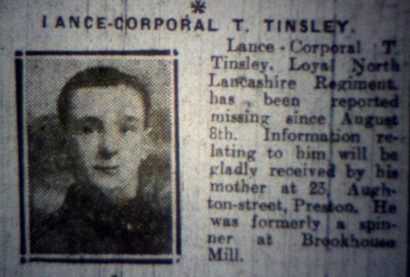 200882 Lance Corporal Thomas Tinsley