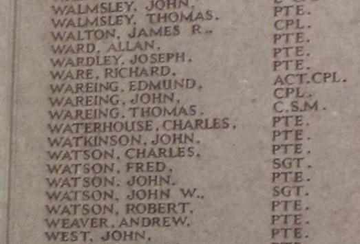 1720 Company Sergeant Major Thomas Wareing 1