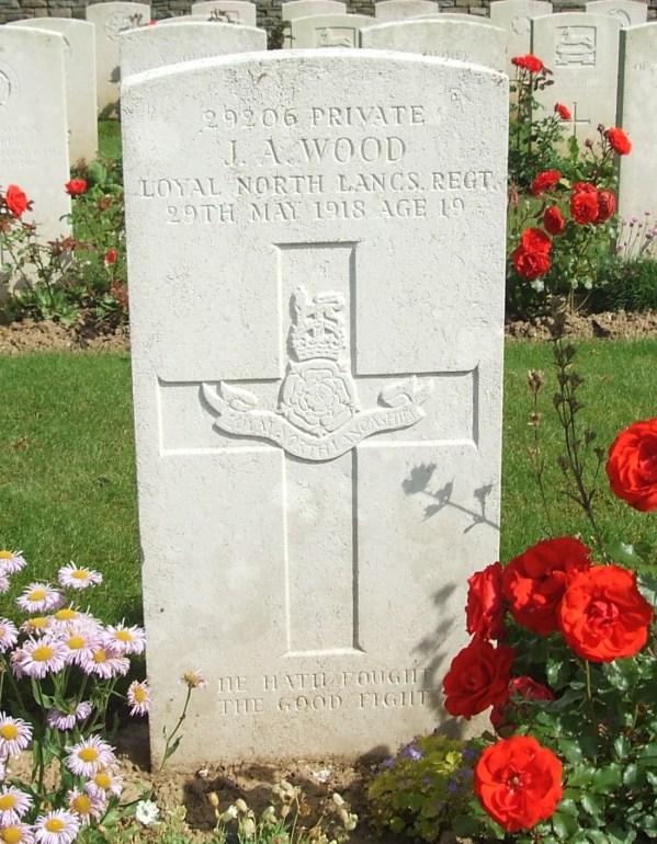 29206 Private James Albert Wood CWGC