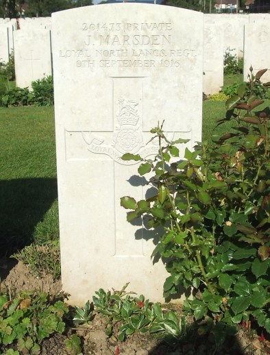 201474 Private Joseph William Marsden cwgc