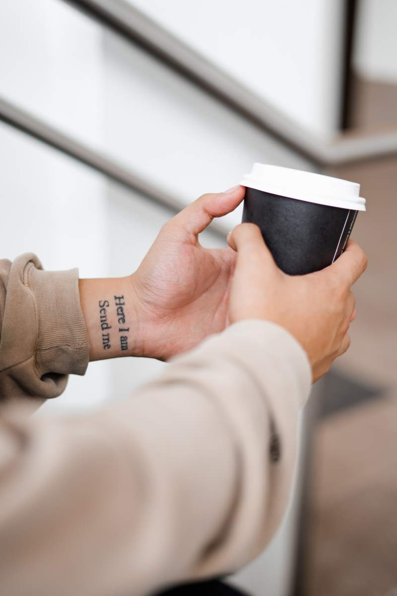 Word Tattoo on the Wrist