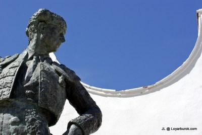 Statue of Cayetano Ordonez outside Plaza de Toros de Ronda. The Ordonez family and the Romero family are 2 most significant contributors to bullfighting.