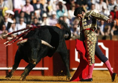 Matador performing a pass during the last act. Source: Marcello Del Pozo