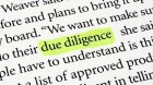 Due Diligence in the Business World (Part 3)