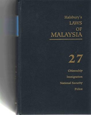 Halsbury's Cover Vo. 27
