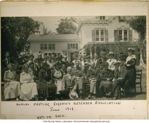 Eugenics Record Office, Annual Meeting of the Eugenics Research Association, 1918 (Source: dnalc.org)