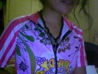 June's candy-striped bike jersey
