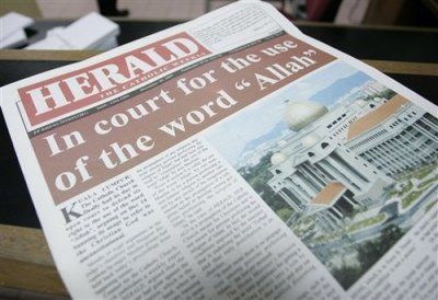 "Catholic newspaper banned from using the word ""Allah"""