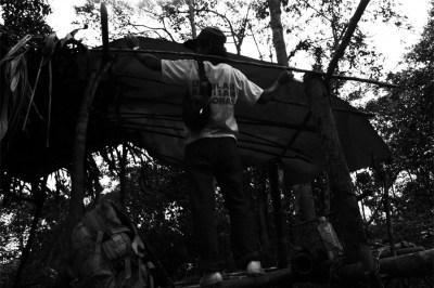 Asok, a Penan from Long Leng, set up my sulap at Long Seridan.