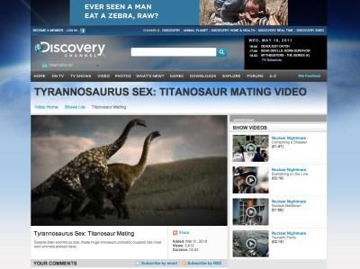 Tyrannosaurus Sex! Click to watch!