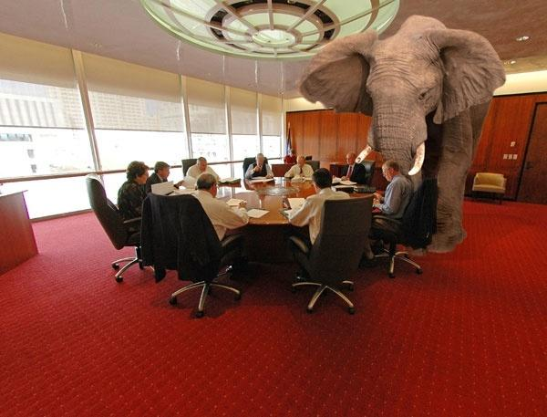 Words in English - Elephant in the Room.