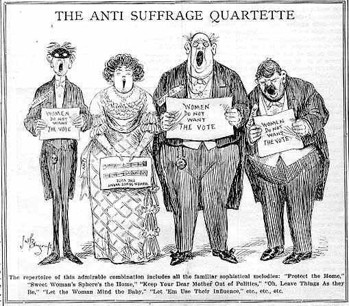 Anti-suffrage Quartette, Women's Journal, 1912