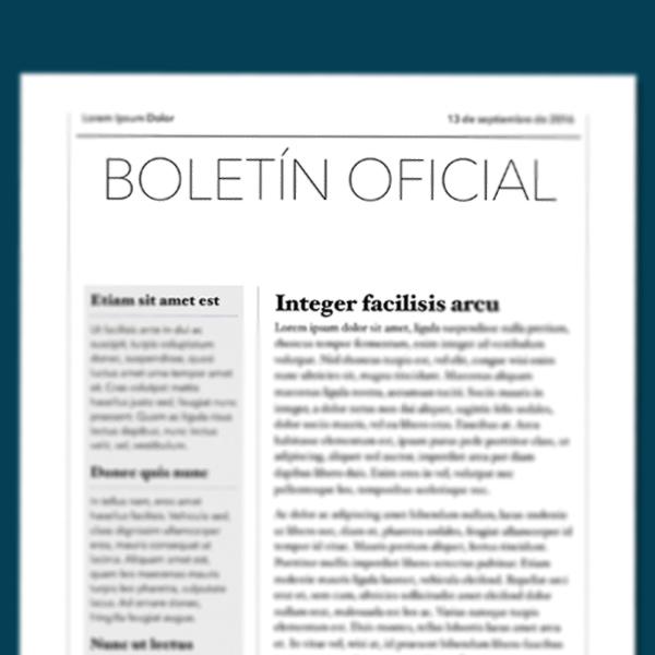 Boletínes Oficiales