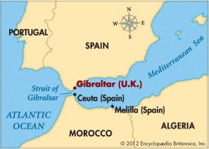 Impuesto sobre Actividades de Juego: Consulta Vinculante sobre residencia efectiva en Ceuta y Melilla, fotografía donde puede verse mapa del sur de España y Norte de África