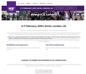 Loyra en ICE Totally Gaming . Feb. 4-7, fotografía del cartel de la feria ICE de Londre